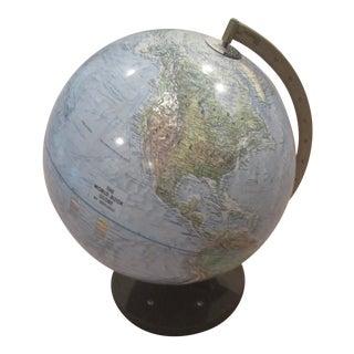 1960s-1970s Vintage Replogle World Globe