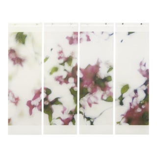 Shivering Crabapple No. 5, 2016, Archival pigment ink on kozo paper infused with encaustic medium by Jeri Eisenberg (quad).