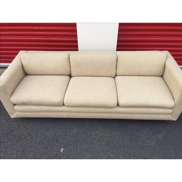 Mid Century Cream Sofa on Wood by Gunlocke Company - Image 5 of 10