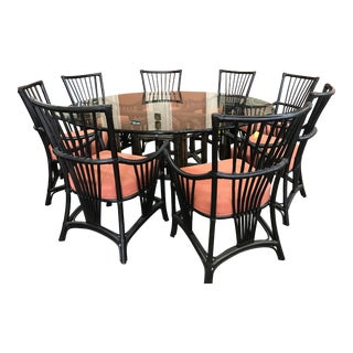 Palecek President's Dining Table & Campaign Chairs