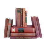 Image of Vintage Red Decorative Book Set of 11