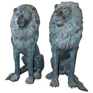 Erik Kramer Lion Sculptures - Pair