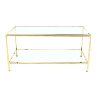 Solid Brass Tube Rectanglar Coffee Table