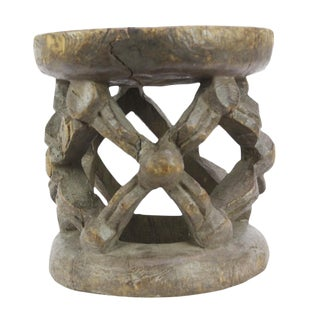Bayo African Carved Stool