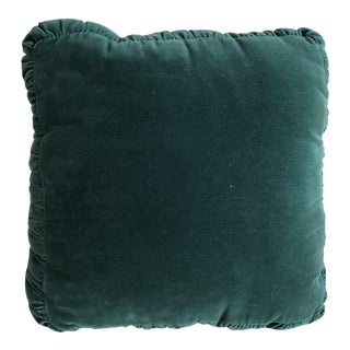 Vintage Emerald Velvet Pillow