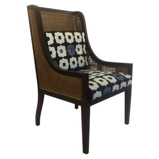 Wing Back Chair with Caned Back & Sides