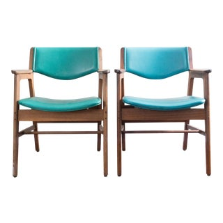 Gunlocke Mid Century Office Chairs - A Pair