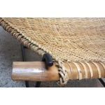 Image of Rattan and Iron Sling Chair by Danny Ho Fong for Tropi-cal