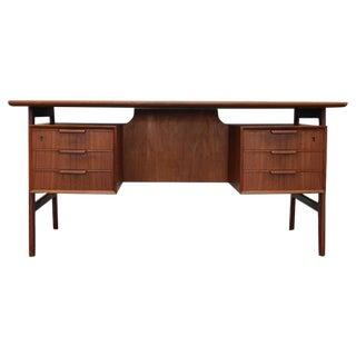 Teak Model 75 Desk by Gunni Omann for Omann Jun Møbelfabrik - 1960s