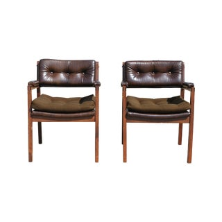Mid Century Murphy Miller Tufted Chairs A Pair