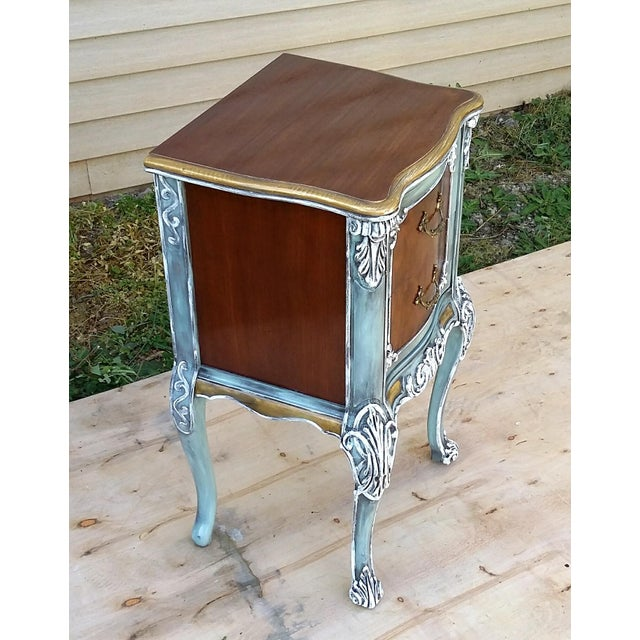 Hand-Painted French Nightstand - Image 4 of 9