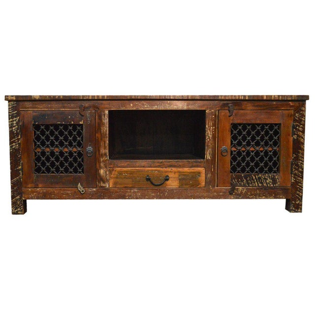 Reclaimed Wood Rustic Entertainment Center - Image 3 of 3