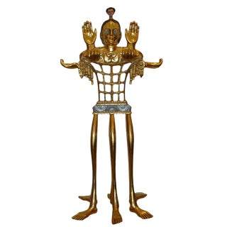"5-foot Tall Gilt Candelabrum by Pedro Friedeberg ""Venus of Galveston"""