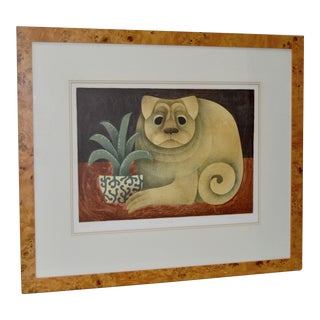 "Carol Jablonsky ""Chinese Dog"" Limited Edition Lithograph c.1970s"