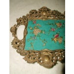 Image of Hand Painted Bronze Earthenware Tray