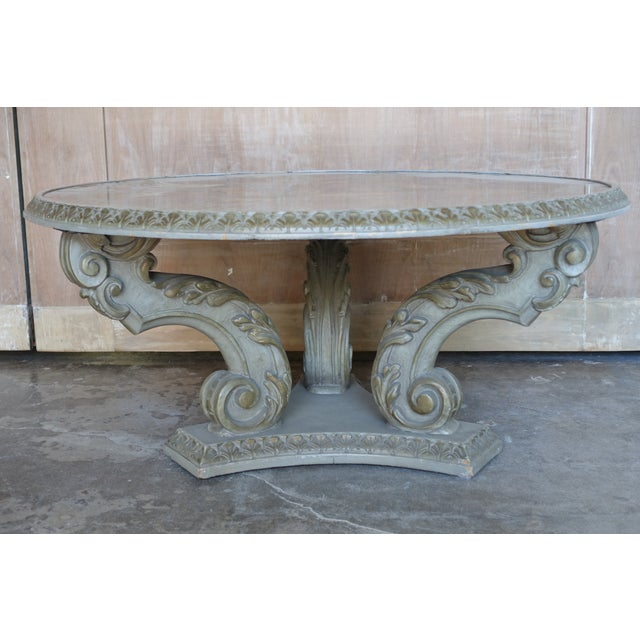 Acanthus Carved Italian Coffee Table - Image 2 of 9