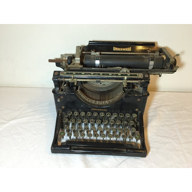 Antique 1908 Black Underwood Typewriter - Image 8 of 11