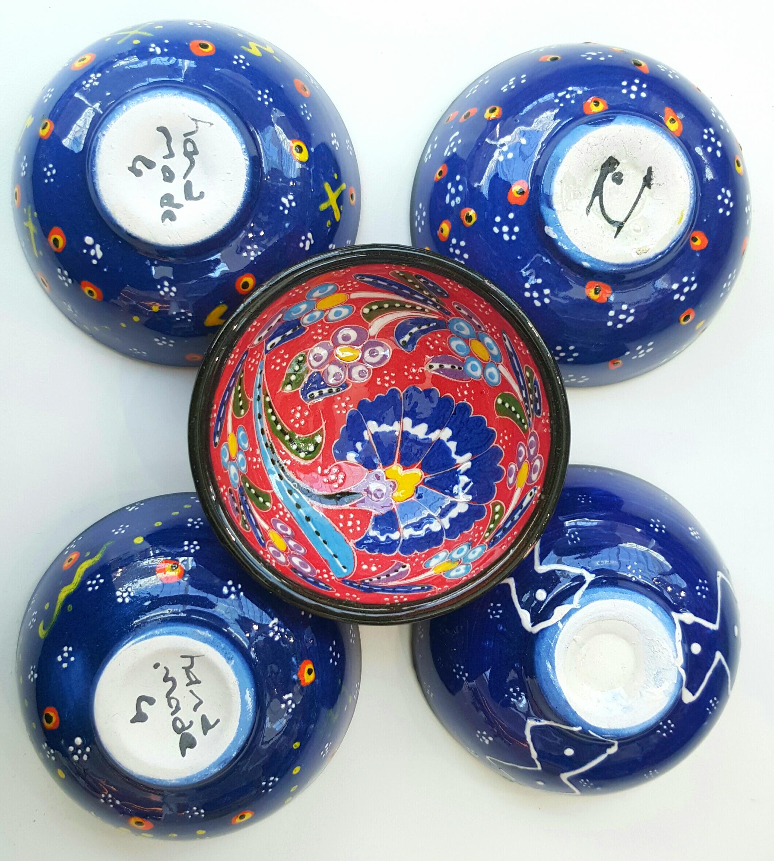 Set of 5 (Five) Turkish Greece Kilim Carpet Rug Design Woven Bookmarks
