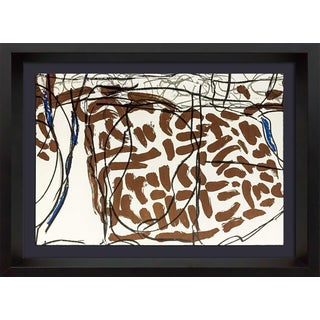 1974 Original Jean-Paul Riopelle Framed Lithograph - Double Lithograph in Color
