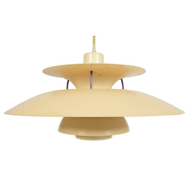 poul henningsen cream ph5 pendant chairish. Black Bedroom Furniture Sets. Home Design Ideas