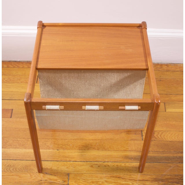Mid-Century Furbo Danish Teak Side Table With Magazine Holder - Image 8 of 10