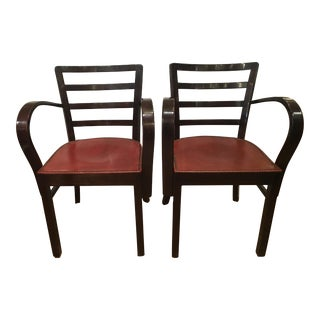 Pair of Hungarian Art Deco Arm Chairs