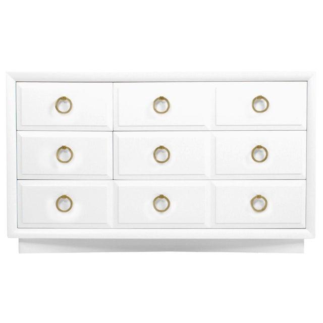 Robsjohn Gibbings Widdicomb White Dresser - Image 1 of 3