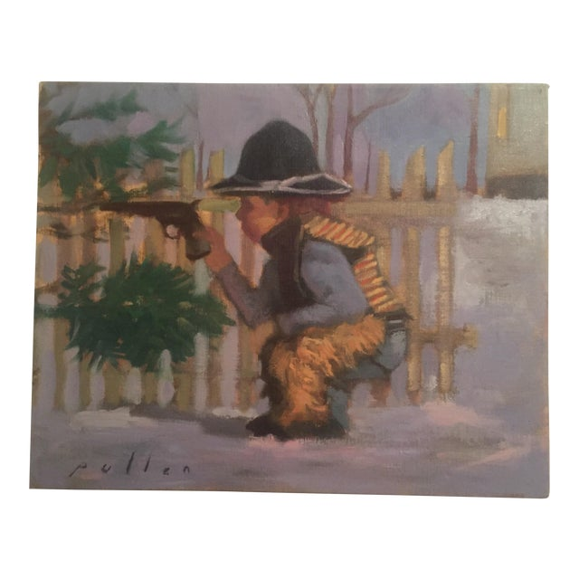 "Mark Pullen ""Little Boy"" Original Oil Painting - Image 1 of 6"