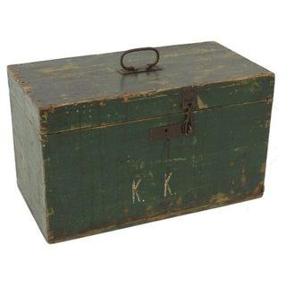 Vintage European Green Soldiers Box