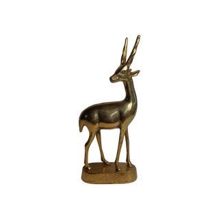 Mid-Century Brass Gazelle Figure