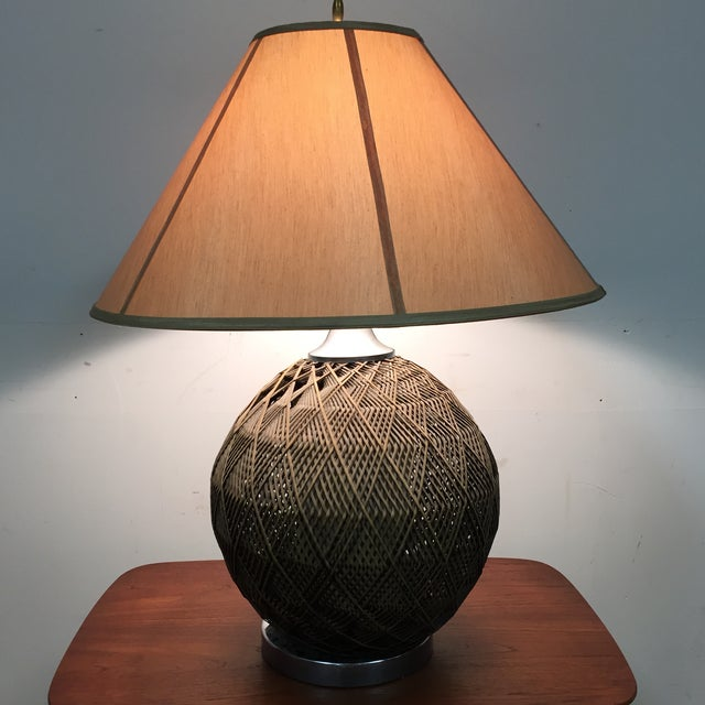 Optic Woven Cane Table Lamp - Image 4 of 11