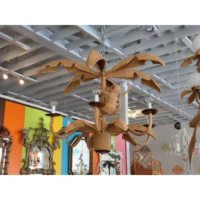 Mario Lopez Torres Palm Tree Monkey Chandelier - Image 6 of 6