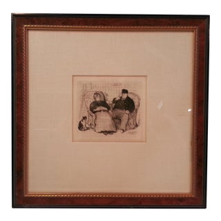 """Monsieur Et Madame Vatard: The Bobino Follies"" Framed Print by Jean-Francios Raffaelli"