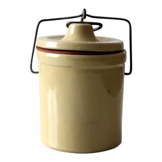 Vintage Ceramic Ball Lock Jar