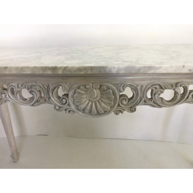French Marble Topped Console Table - Image 5 of 6