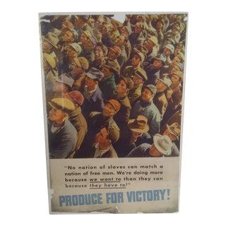 """Free Men"" Vintage WWII Victory Poster"