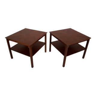 Henredon Walnut End Tables - A Pair
