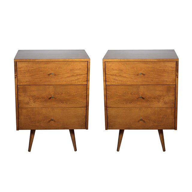 Paul McCobb 3 Drawer Nightstands - A Pair - Image 1 of 7