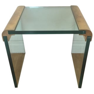 Pace for Leon Rosen Glass & Brass Side Table