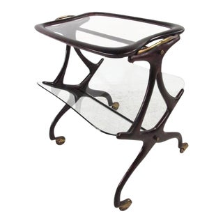 Cesare Lacca Italian Side Table Magazine Rack