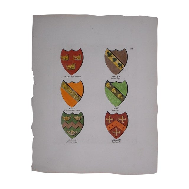 Image of Antique Heraldry Crests C.1790
