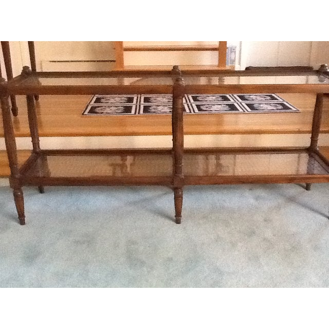 Cane & Glass Coffee Table with Shelf - Image 6 of 10