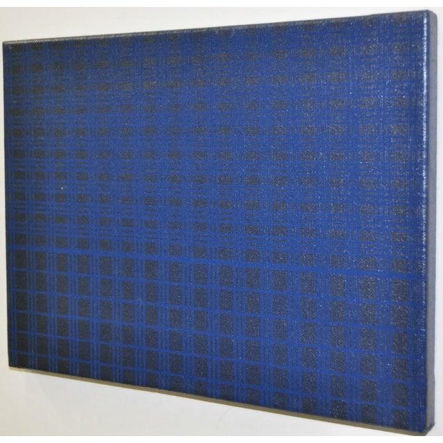 1970's Charles Hersey Blue Vintage Op Art - Image 2 of 5