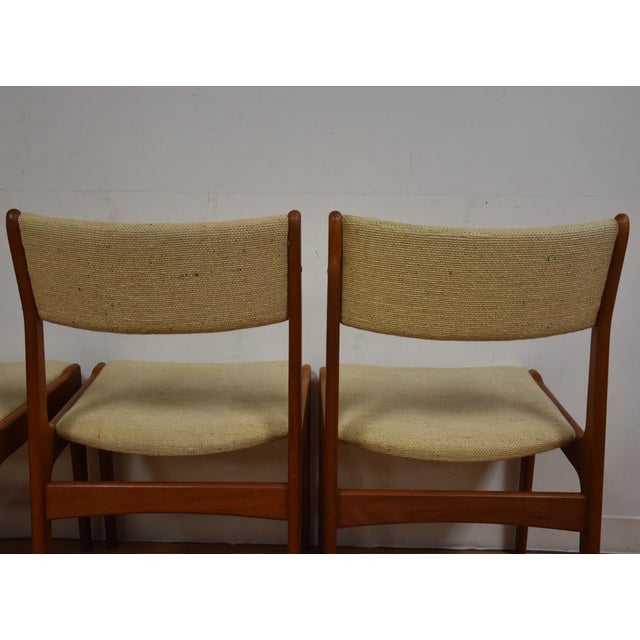 Image of Teak Dining Chairs - Set of 4