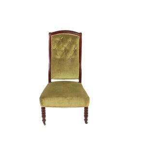 Olive Velvet Rouen Parlor Chair