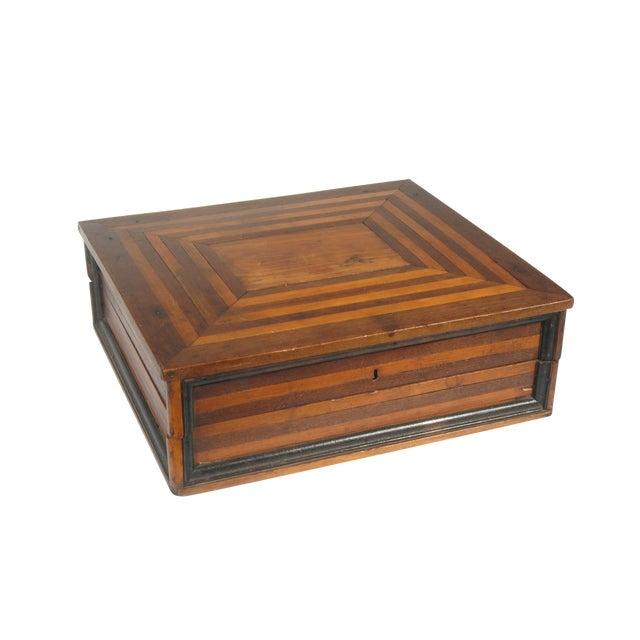 Image of Antique 1920s Primitive Wood Letter Box