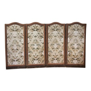 French 4 Panel Canvas Screen
