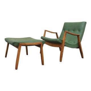 Milo Baughman for James Inc Scoop Chair & Ottoman