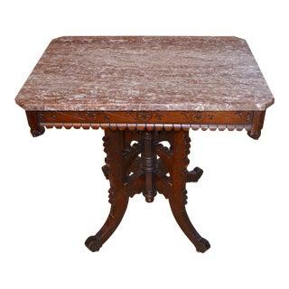 Antique Eastlake Marble Parlor Table