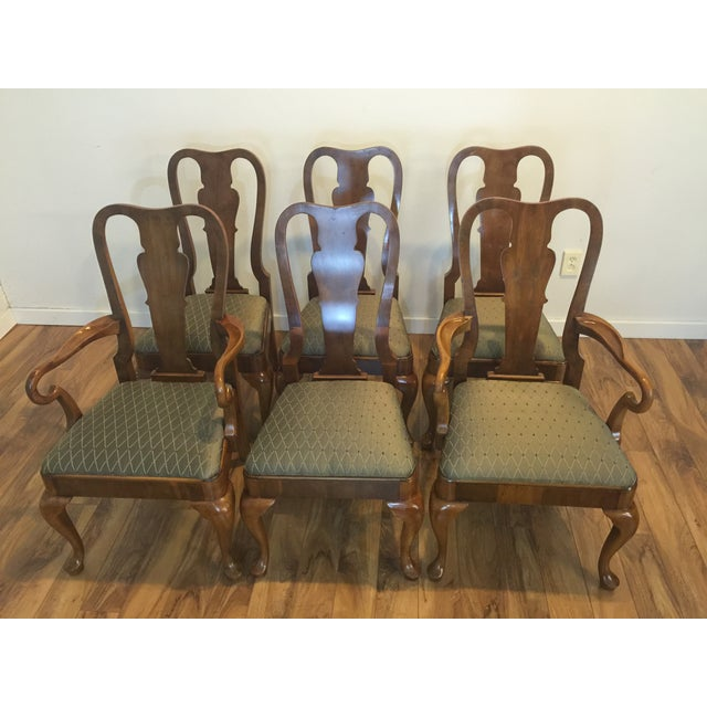 Henredon Traditional Dining Chairs - Set of 6 - Image 3 of 11